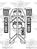 Rock Shox Pike 2014 (orange inlay) Decals
